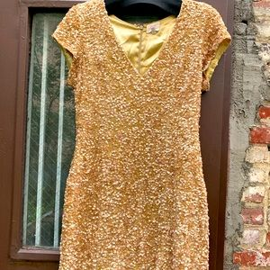 Sequined Parker mini dress